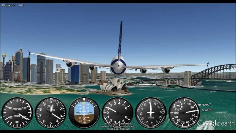 Google Earth Flight Simulator Can Be Activated When Needed