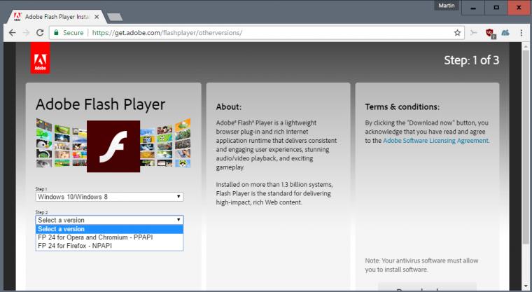 Adobe Flash Player on Chrome
