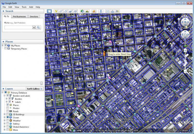 Google Earth Windows 10