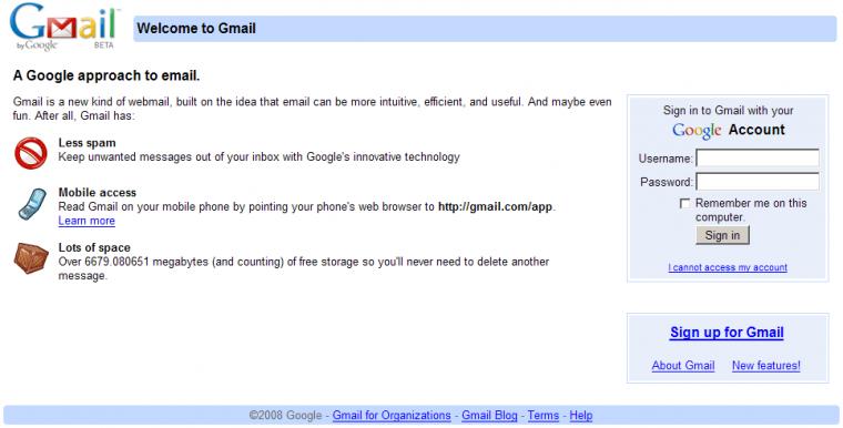 Gmail Login Password