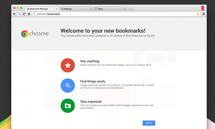 Google Chrome Bookmarks