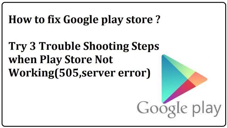 Google Play Store server error